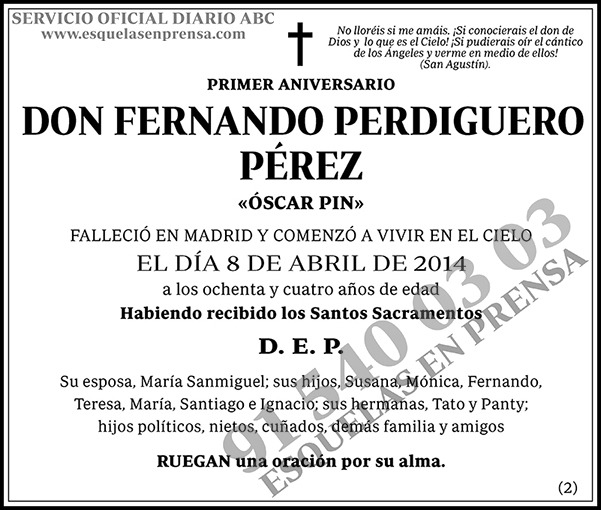 Fernando Perdiguero Pérez